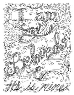 Instant Download Scripture Christian Art to Color by ChubbyMermaid on Etsy