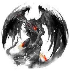 Black Dragon Kalameet by Shimhaq ( Sif Dark Souls, Arte Dark Souls, Mythical Creatures Art, Fantasy Creatures, Dark Fantasy Art, Dark Art, Seele Tattoo, Arte Obscura, Bild Tattoos