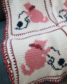 Country Kittens Afghan Crochet Pattern