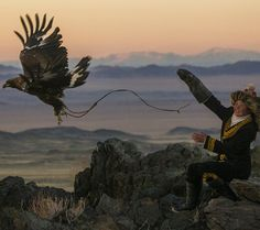 Mongolian tradition - Golden Eagle training ( for first time a girl )Asher Svidensky photography( image detail)