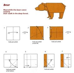 bear easy origami instructions.