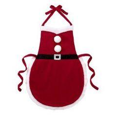 Ganz Christmas Apron - Multi Purpose Santa Suit Apron by Christmas Aprons, Christmas Sewing, Christmas Projects, Christmas Crafts, Christmas Ornaments, Christmas Kitchen, Sewing Crafts, Sewing Projects, Santa Suits