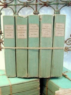 .Love old books!  @TheDailyBasics.com ♥♥♥