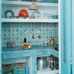 moroccan tile backsplash ideas colorful geometric patterns exotic kitchen pantry ideas