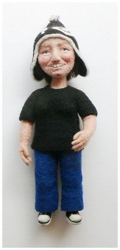 Needle felted portrait puppet  possibly the best gift by FforFelt, $230.00
