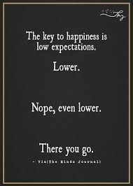 Happiness Via Low Expectations Expectation Quotes Key To Happiness Quotes