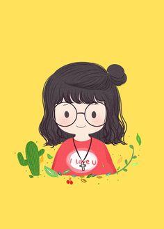 New Design Character Cute Ideas Girl Cartoon, Cute Cartoon, Cartoon Art, Cute Illustration, Character Illustration, Character Drawing, Character Design, Kawaii Wallpaper, Anime Art Girl