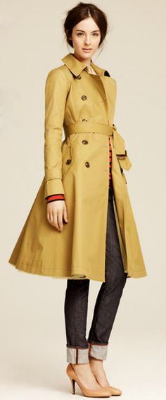 J.Crew Fall - Flared Trench Coat