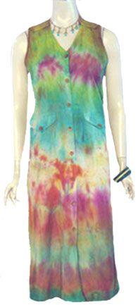 Tie Dyed Vintage 80s Dress