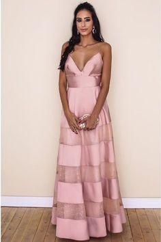 Elegant Prom Dresses, V Neck Pink Prom Dress With Spaghetti Straps Formal Dress Shop for La Femme prom dresses. Elegant long designer gowns, sexy cocktail dresses, short semi-formal dresses, and party dresses. High Low Prom Dresses, V Neck Prom Dresses, Pink Prom Dresses, Cheap Prom Dresses, Homecoming Dresses, Pink Dress, Lace Dress, Formal Dresses, Party Dresses