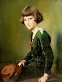 robe verte / green dress - Firmin Baes (1874-1943) Baroness de Mevius