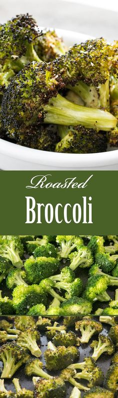 The BEST way to eat broccoli? Roasted! Just toss in olive oil, lemon juice, and salt, roast in oven on high heat, sprinkle with Parmesan and black pepper. So healthy and good. Low carb too! On SimplyRecipes.com