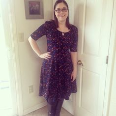 I absolutely adore the LuLaRoe Nicole Dress - So flattering and comfortable! I pair mine with leggings & boots or a cute pair of flats, depending on the weather. #lularoelove #lularoenicole #lularoenicoledress