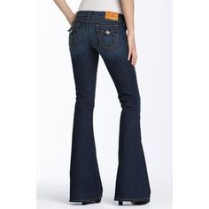 {SOLD} NWT Women's TRUE RELIGION Carrie Skinny Wide Flare Jeans sz 24 ($70+S/H)