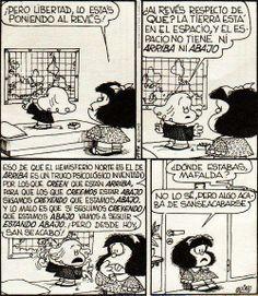 Notable Mafalda y Libertad Mafalda Quotes, H Comic, Lucky Luke, Humor Grafico, Sarcastic Quotes, Amazing Adventures, Funny Comics, Best Memes, Comic Strips
