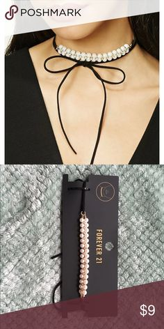 Pearl Choker New in package Pearl Self-Tie Choker, love this so much. It's easy to do and looks super cute. Questions comment below, offers welcome and will bundle with other items for discounted price ❤ Jewelry Necklaces