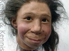 A Facial Reconstruction of a Netherlands child, known as La Quina.