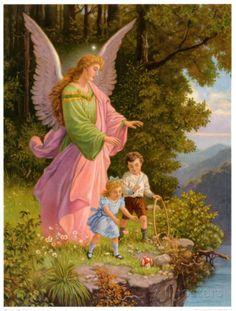 Heilige Schutzengel Art Print