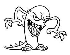 15 best dibujos de monstruos para colorear images on pinterest