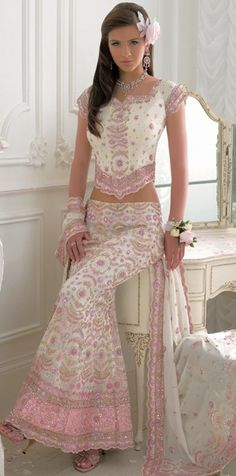 Pink and White Chic Indian Fashion