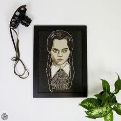 Wednesday Addams artwork by Luke Dixon I Hate Everything, Wednesday Addams, Limited Edition Prints, Giclee Print, Original Artwork, Framed Prints, Gallery