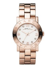 Marc by Marc Jacobs Watch, Women's Amy Rose Gold Ion Plated Stainless Steel Bracelet MBM3077 - All Watches - Jewelry & Watches - Macy's