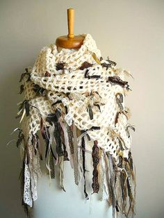 Shabby Chic Shawl By Crochetlab Fall and Winter 2011 by crochetlab, $58.00