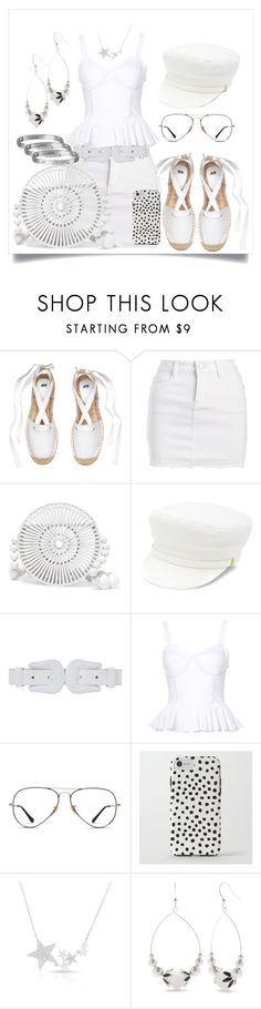 """""""White Denim And Ruffles"""" by dreah-darling ❤ liked on Polyvore featuring Dollhouse, Cult Gaia, Manokhi, B-Low the Belt, Tome, Superdry, Diamond Star, Kim Rogers and Cartier"""