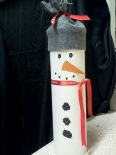 Pringles can made into a Snowman that I made myself...Fill with goodies