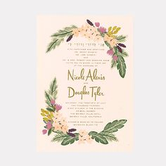 """A Boho-Chic Gold-Foil Wedding Invitation. A Boho-Chic Gold-Foil Wedding Invitation""""Beverly Hills"""" invitation, from $925 for 100, Rifle Paper Co.See more bohemian wedding invitations.Featured In: A Boho-Chic Gold-Foil Wedding InvitationPhoto:  Courtesy of Rifle Paper Co."""