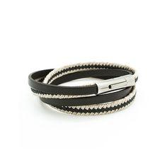 Bracelet cuir homme personnalisé - Petits Trésors - bijou personnalisé homme
