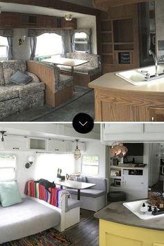 The Best RV & Camper Hacks Makeover Remodel Interior 33 Ideas Cool Campers, Rv Campers, Camper Trailers, Travel Trailers, Retro Campers, Vintage Campers, Happy Campers, Camper Hacks, Diy Camper