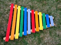 Homemade Rainbow Xylophone | And Next Comes L