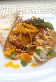 Cape Pickled Fish with Lime, Thyme & White Pepper, and a Pickled-Fish Paté, from the left-overs - Justin's Recipes South African Dishes, South African Recipes, Fish Recipes, Seafood Recipes, Cooking Recipes, Oven Recipes, Curry Recipes, Pickled Fish Recipe, Eid Food