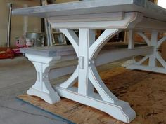 I design and build custom Farmhouse Trestle and Pedestal tables and benches. I work with you to choose size, height, style, materials and finishes. I create my own set of plans for your table to build from. I can build just about any size and style. From Trestle and Pedestal tables to classic four leg Farmhouse tables. Prices for the trestle/pedestal tables start around $400 and go up from there. Call, text or Email for more specific pricing and current turnaround times. Let's build yo...