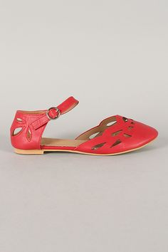I want!!! Red Vintage Style Mary Janes  $29.99