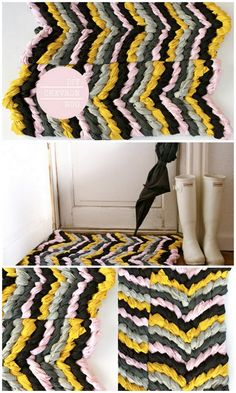 Braided Chevron Rug. I bed a rug for my room :o
