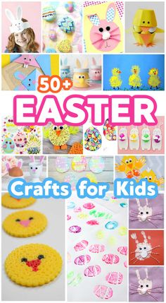 50+ Cute Easter Crafts for Kids - Fun and Easy Kids Activities for Easter #easterfun #easteractivities #toddleractivitiesforeaster #kidsactivities #eastercrafts #easterart #eastertoddleractivities #craftsforeaster #emmaowl #oldfashionedfun #easyeasterideas #kidsfunateaster #craftsforkids #funandeasycrafts #easter #easterholiday #easterideas Art Activities For Toddlers, Easter Activities, Spring Activities, Creative Activities, Creative Crafts, Preschool Activities, Spring Projects, Spring Crafts, Holiday Crafts