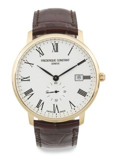 19276c3a28a Men s Swiss Made Slimline Leather Strap Watch