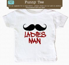 Bavoir ou Tee Body Ladies Man moustache drôle organique 2 plis 100 % coton Bib One Size Fits All sur Etsy, 6,42 €