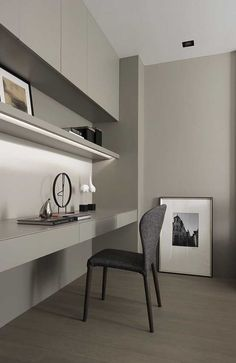 75 Most Favorite Home Workspace Design Inspirations - Proyecto PenHouse - Home Office Modern Home Offices, Small Home Offices, Home Office Space, Home Office Decor, Home Decor, Office Furniture, Small Office, Office Ideas, Furniture Ideas
