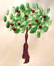 Fingerpaint apple tree