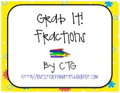 Math Differentiated Grab It! Fractions Center: A fun way that students love to practice skills!