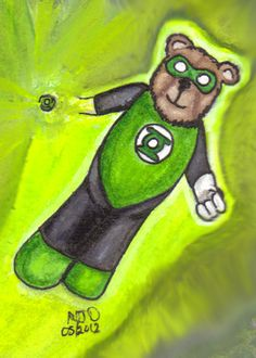 In brightest day, in blackest night,  No evil shall escape my sight  Let those who worship evil's might,  Beware my power, Green Lantern's light!!! Hal Jordan - Green Lantern and Cuddly Hero...
