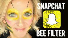 Snapchat BEE Filter Makeup Face Paint Tutorial