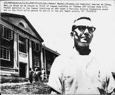"""June 11, 1963: Robert Muckel, a 29-year-old white high school teacher from Nebraska, unintentionally becomes the first student to successfully integrate a public educational institution in Alabama. Shortly before Gov. George Wallace made his """"stand in the schoolhouse door"""" at the University of Alabama, Muckel sat down for his first class at Alabama A College, an all-black institution. Attending a summer science institute, Muckel did not realize when he applied that A was a segregated school."""