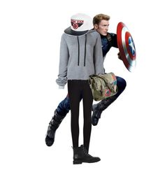 """""""Captain America"""" by shootunicorns on Polyvore featuring Winser London, Unravel, Marvel and Giuseppe Zanotti"""