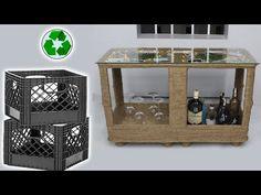 Plastic Crates, Jute Crafts, Space Saving Furniture, Liquor Cabinet, Storage, Home Decor, Purse Storage, Decoration Home, Room Decor