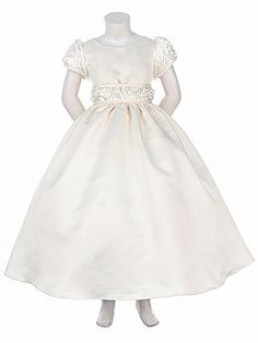 Ivory Rosebud Ribbon Embroidered Cap Sleeve Dress