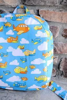 Here is a free sewing toddler backpack tutorial. Also great as a preschool backpack for kids.